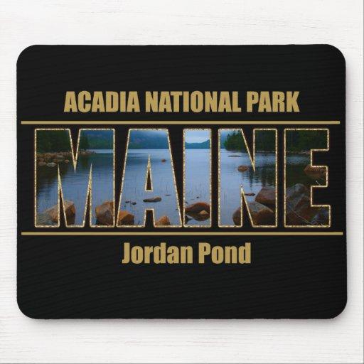 MAINE Picture Font Acadia National Park Mousepads