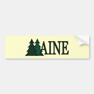 Maine Pine Trees II Bumper Sticker