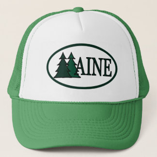 Maine Pine Trees II Trucker Hat