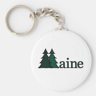 Maine Pine Trees Key Ring