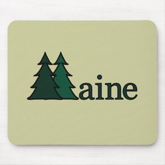 Maine Pine Trees Mouse Mat