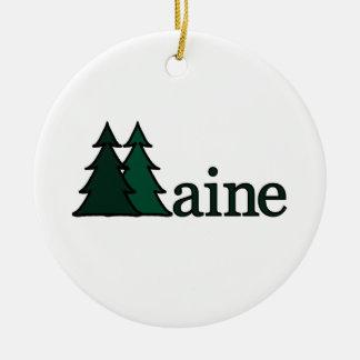 Maine Pine Trees Ornament