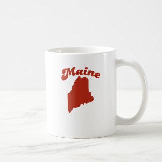 MAINE Red State Basic White Mug