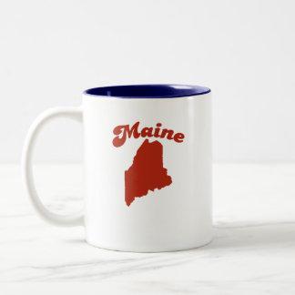 MAINE Red State Two-Tone Coffee Mug