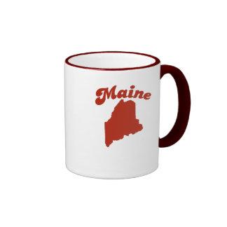 MAINE Red State Ringer Coffee Mug