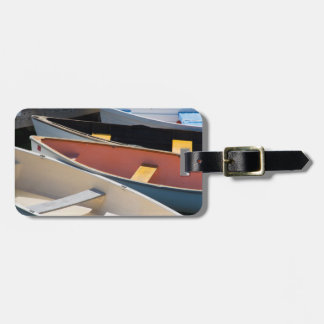 Maine, Rockland. Colorful boats in Rockland Luggage Tag