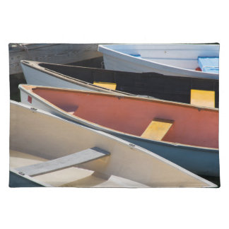 Maine, Rockland. Colorful boats in Rockland Placemat