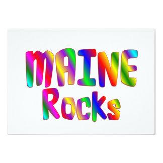 "Maine Rocks 5"" X 7"" Invitation Card"