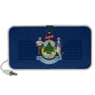 Maine State Flag Notebook Speakers