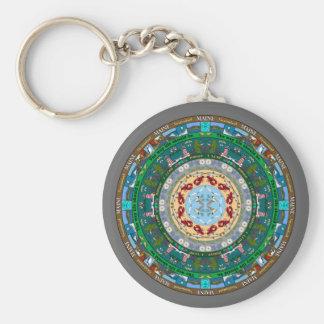 Maine State Mandala Keychain