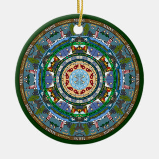 Maine State Mandala Ornament