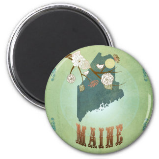 Maine State Map – Green Magnet