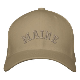 Maine state of USA Embroidered Hat