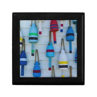 Maine, Stonington, decorative lobster buoys Gift Box