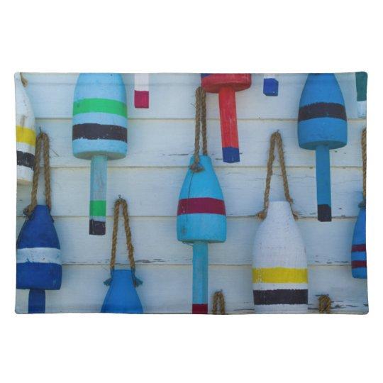 Maine, Stonington, decorative lobster buoys Placemat