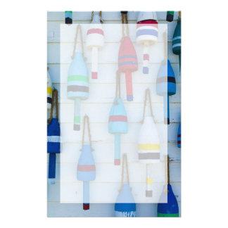 Maine, Stonington, decorative lobster buoys Stationery