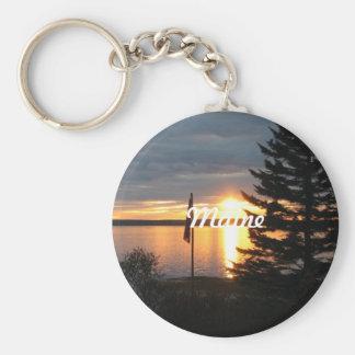 Maine Sunset Key Ring