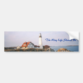 Maine, The Way Life Should Be Car Bumper Sticker