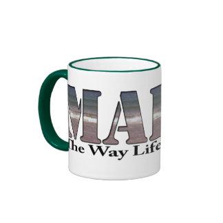 Maine The Way Life Should Be Ringer Mug