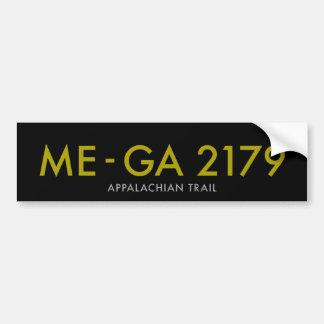 Maine to Georgia 2179 Miles - Appalachian Trail Bumper Sticker