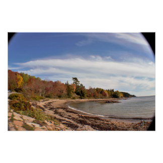 Maine Waterscape Wide Angle Poster
