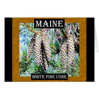 Maine White Pine Cone Card