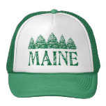 Maine Winter Evergreeens Cap