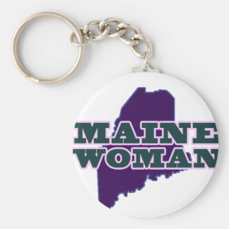 Maine Woman Key Ring