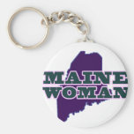 Maine Woman Keychains