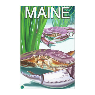 MaineCrab and Fisherman Gallery Wrapped Canvas