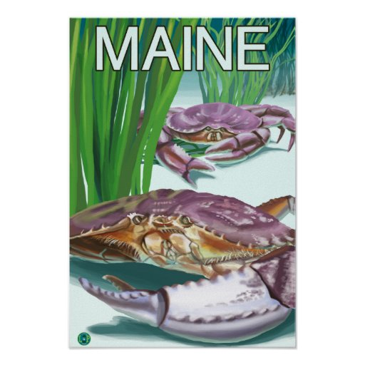 MaineCrab and Fisherman Poster