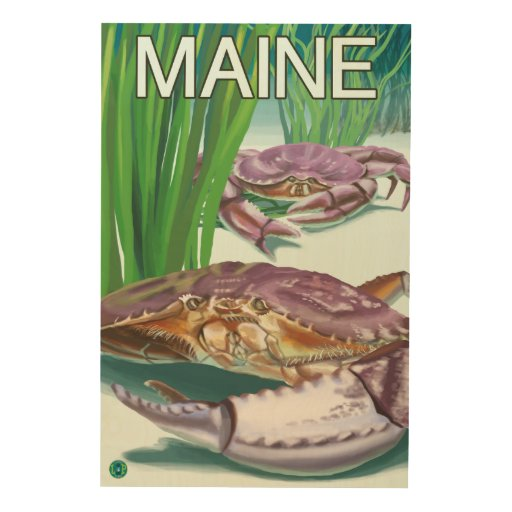 MaineCrab and Fisherman Wood Canvases