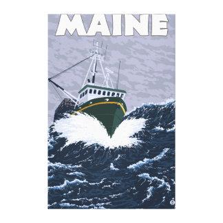 MaineCrab Fishing Boat Scene Canvas Prints