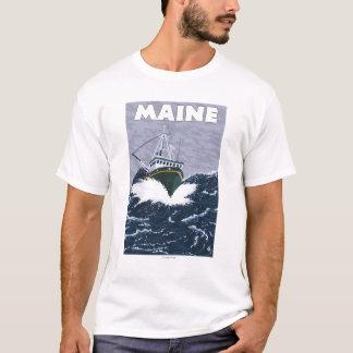 MaineCrab Fishing Boat Scene T-Shirt