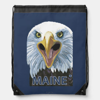 MaineEagle Up Close Drawstring Bag