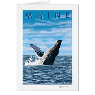 MaineHumpback Whale Scene Card