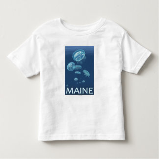 MaineJellyfish Scene Toddler T-Shirt