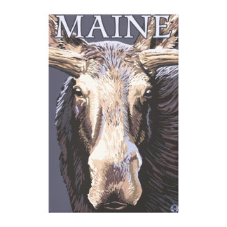 MaineMoose Up Close Gallery Wrap Canvas