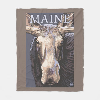 MaineMoose Up Close Fleece Blanket