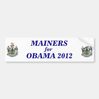 Mainers for Obama 2012 sticker Bumper Sticker