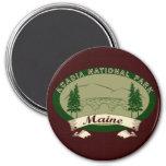 Maine's Acadia National Park 7.5 Cm Round Magnet