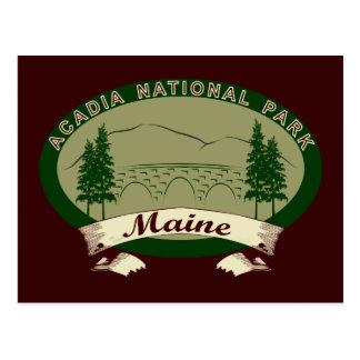 Maine's Acadia National Park Postcard