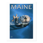 MaineSea Otter Scene Postcard
