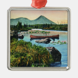 MaineSourdnahunk Valley Lily Pad Pond Scene Christmas Ornament