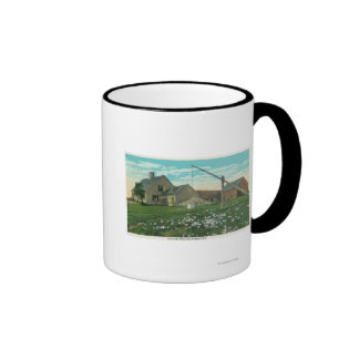 MaineView of an Old New England Homestead Coffee Mug