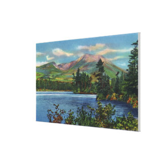 MaineView of Mount Katahdin and Daicey Pond Canvas Print
