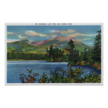 MaineView of Mount Katahdin and Daicey Pond Poster