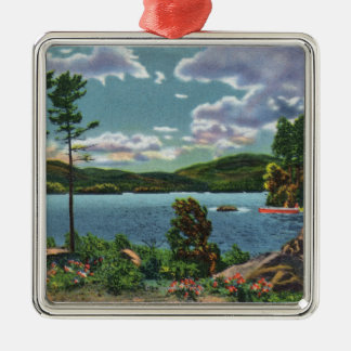 MaineView of Squaw Mountain and Moosehead Lake Christmas Ornament