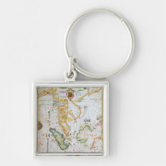 Mainland Southeast Asia, detail from world atlas Key Ring
