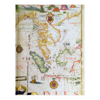 Mainland Southeast Asia, detail from world atlas Postcard